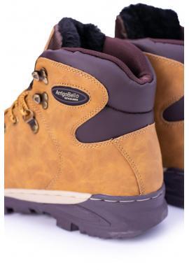 Svetlohnedé oteplené trekingové topánky pre pánov