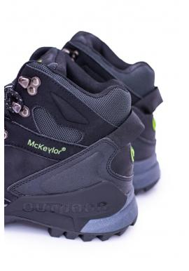 Pánske zimné trekingové topánky v čiernej farbe