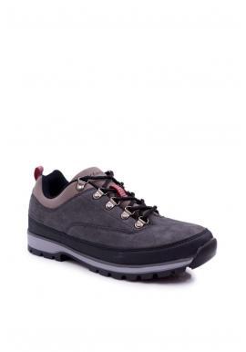 Trekingová pánska obuv sivej farby