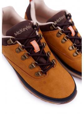 Pánska trekingová obuv v svetlohnedej farbe