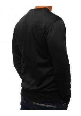 Pánske klasické mikiny bez kapucne v čiernej farbe