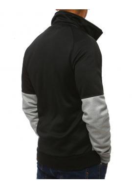 Pánska športová mikina bez kapucne v čiernej farbe