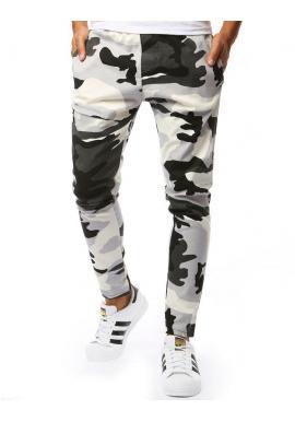 Pánske maskáčové nohavice v bielej farbe