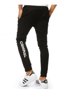 Čierne módne nohavice pre pánov