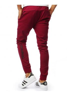 Bordové módne nohavice pre pánov