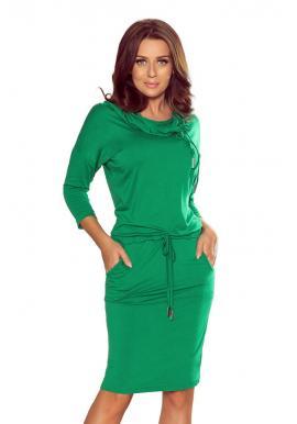 Zelené športové šaty s viazaním pre dámy