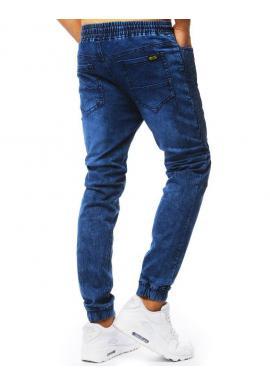 Pánske módne Joggery s rifľovým vzhľadom v modrej farbe