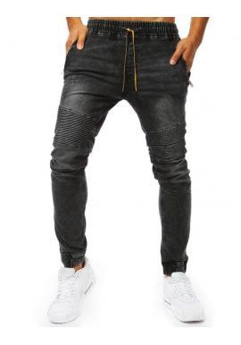 Čierne štýlové Joggery s rifľovým vzhľadom pre pánov