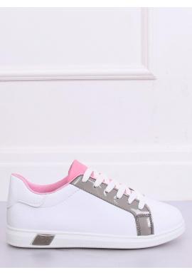Biele módne tenisky so sivými prvkami pre dámy