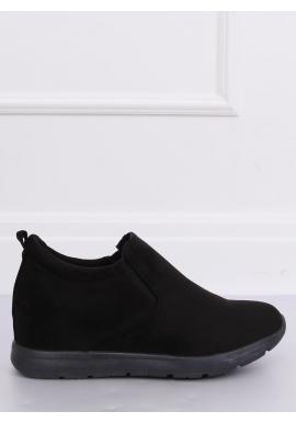 Čierne semišové topánky na skrytom opätku pre dámy