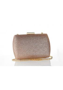 Dámska spoločenská kabelka so zlatými prvkami v čiernej farbe