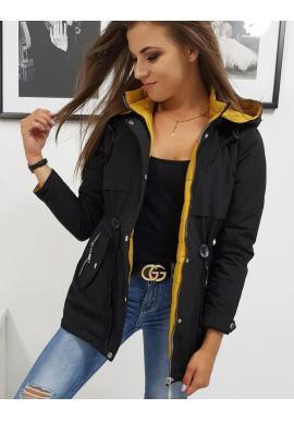 Dámska obojstranná bunda na jeseň v čiernej farbe