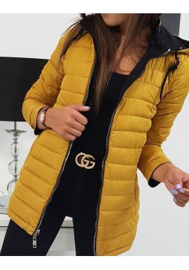 Dámska obojstranná bunda s kapucňou v čiernej farbe