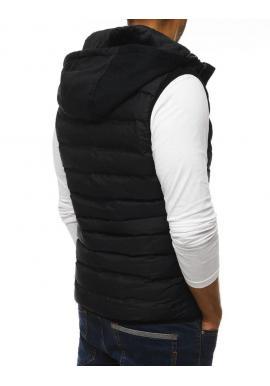 Pánska prešívaná vesta na prechodné obdobie v čiernej farbe