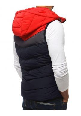 Prešívaná pánska vesta tmavomodrej farby na prechodné obdobie