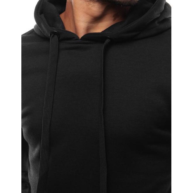 Čierna mikina s klokaním vreckom pre pánov