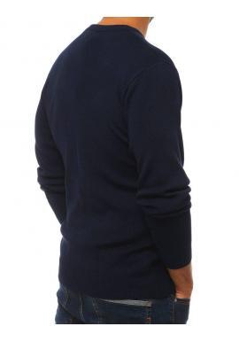 Klasický pánsky sveter tmavomodrej farby s okrúhlym výstrihom