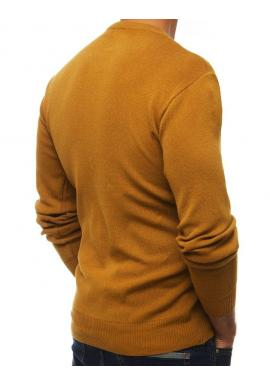Klasický pánsky sveter ťavej farby s okrúhlym výstrihom