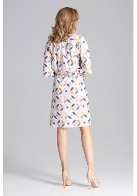 Módne dámske šaty bielej farby s viazaním