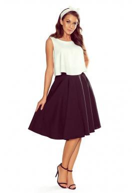 Dámska rozšírená sukňa s vreckami v čiernej farbe