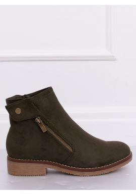 Dámske semišové topánky v zelenej farbe