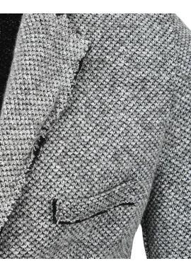 Pánske jednoradové sako v sivej farbe