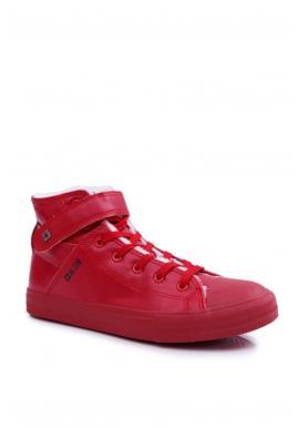 Oteplené pánske tenisky Big Star červenej farby