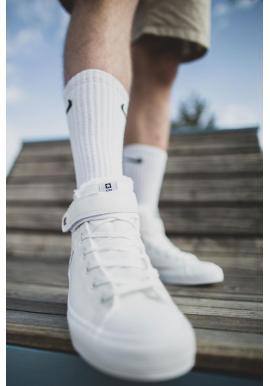 Pánske oteplené tenisky Big Star v bielej farbe