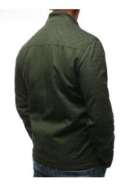 Zelená prechodná bunda bez kapucne pre pánov