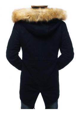 Tmavomodrá zimná Parka s kapucňou pre pánov