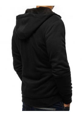 Pánska športová mikina s kapucňou v čiernej farbe