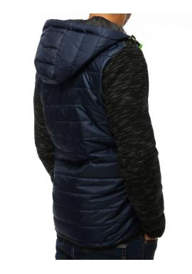 Prešívaná pánska bunda tmavomodrej farby na prechodné obdobie