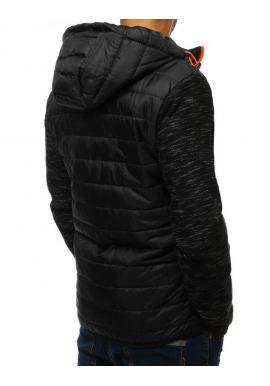 Pánska prešívaná bunda na prechodné obdobie v čiernej farbe