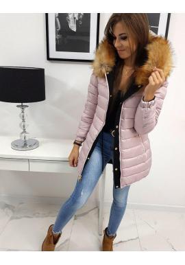 Obojstranná dámska bunda čiernej farby na zimu