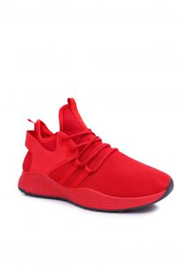 Pánske športové tenisky v červenej farbe