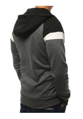 Pánska športová mikina s kapucňou v tmavosivej farbe