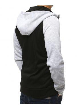 Módna pánska mikina bielej farby s kapucňou