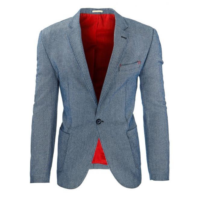 Pánske sako na každodenné nosenie v tmavomodrej farbe