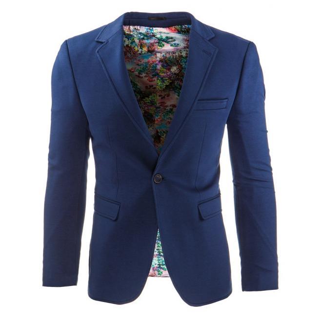 Neformálne pánske sako v modrej farbe