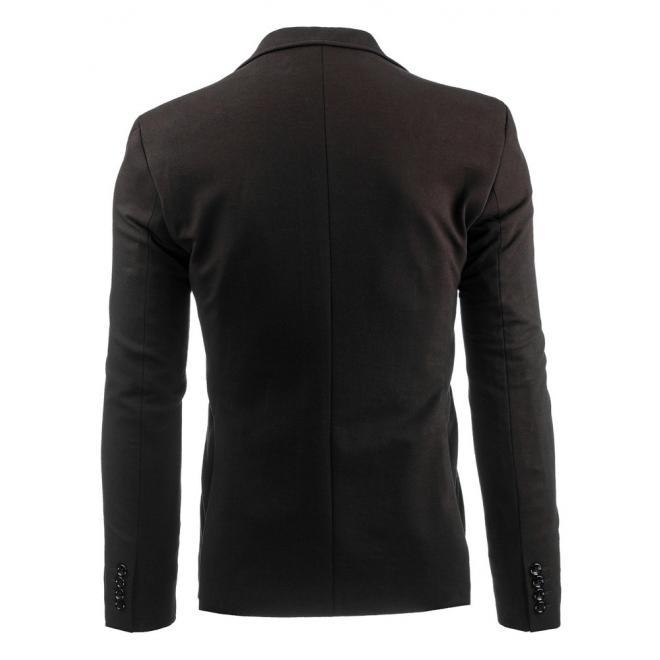 Pánske tmavomodré sako s jedným gombíkom