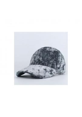 Dámska zamatová šiltovka v sivej farbe