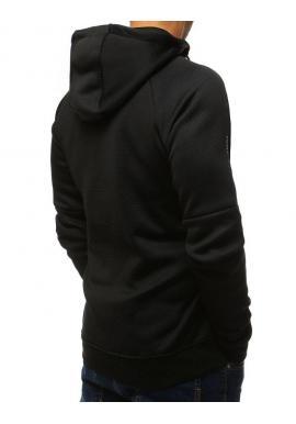 Čierna štýlová mikina s potlačou pre pánov