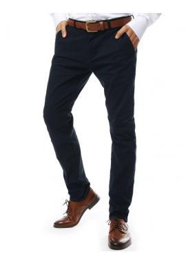 Pánske elegantné nohavice chinos v tmavomodrej farbe