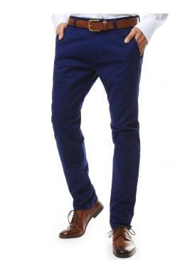 Tmavomodré elegantné nohavice chinos pre pánov