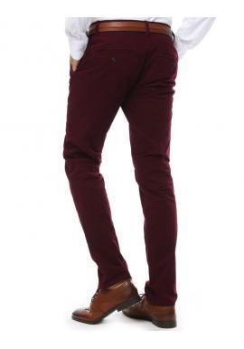 Pánske elegantné nohavice chinos v bordovej farbe