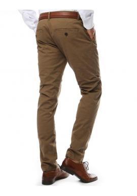 Svetlohnedé elegantné nohavice chinos pre pánov