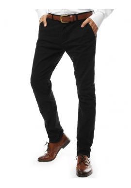 Pánske elegantné nohavice chinos v čiernej farbe