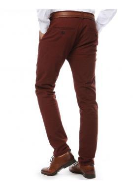 Elegantné pánske nohavice chinos červenej farby