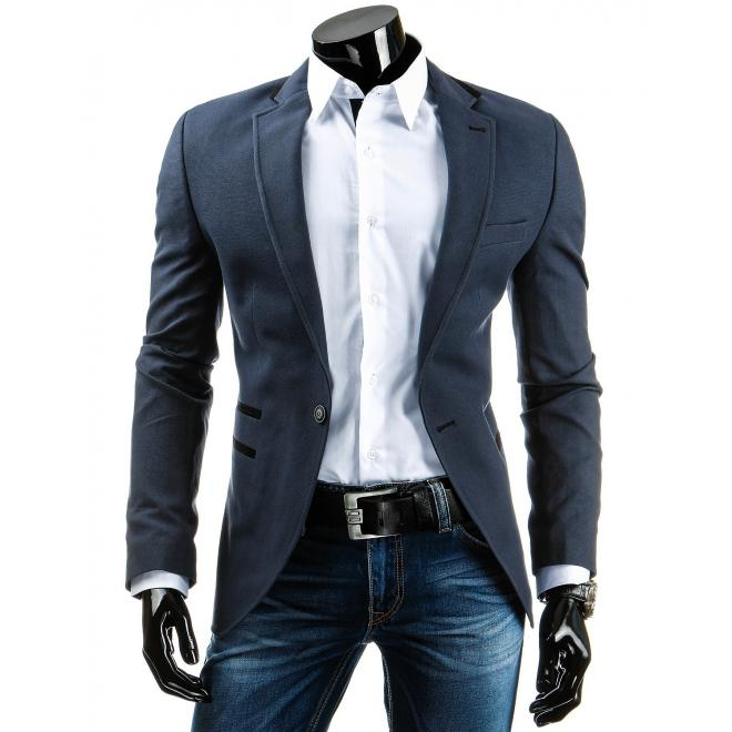 Sako tmavosivej farby v elegantnom štýle pre pánov