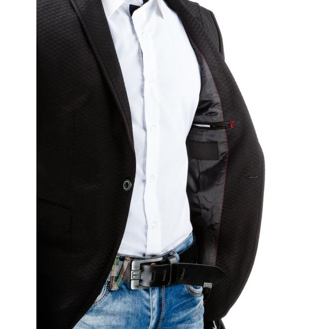Jednoradové pánske sako v tmavomodrej farbe
